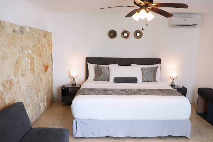 Private room with bathroom , parking & plunge pool