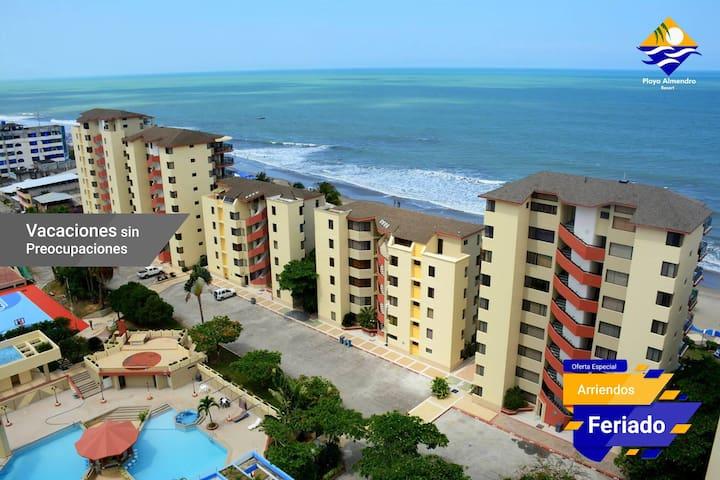 Suite Habitación frente mar Tonsupa Playa Almendro