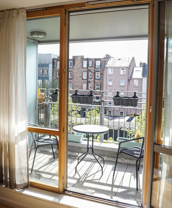 The balcony - perfect  for breakfast in the sun!