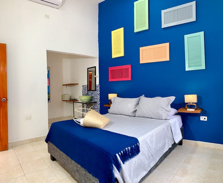 """Magic Blue"" Room in Casa Pedregal"