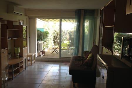 Superbe studio Front de mer avec jardinet - Le Barcarès
