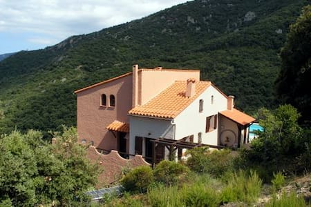Studio Pierre and shared big pool & stunning views - Laroque-des-Albères
