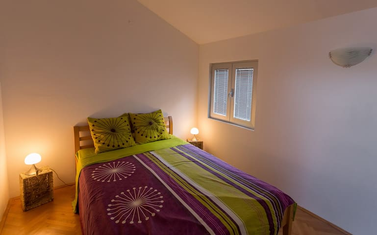 There is also a room for those who prefer to sleep in more quiet and less bright room, so they won't be disturbed by the morning sun.