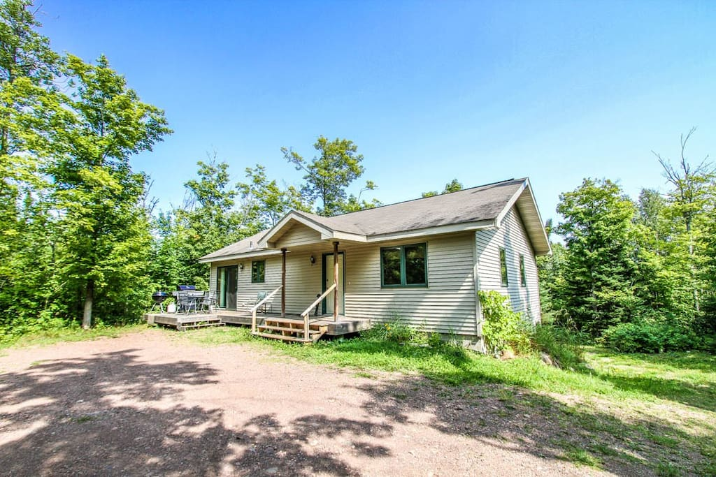 Located on an inlet of Caribou Lake, this home is a great getaway for those who love boating and fishing.