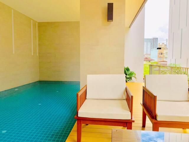 Brand -New Cozy BKK Green Villa @ Punnawithi BTS