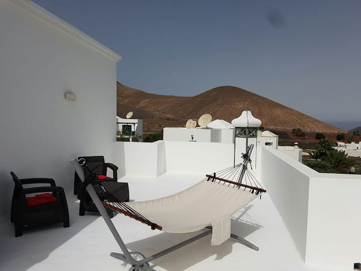 Double room with bathroom and big private terrace