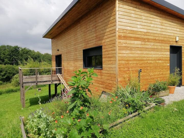 Maison bois moderne & cosy dans écrin de verdure