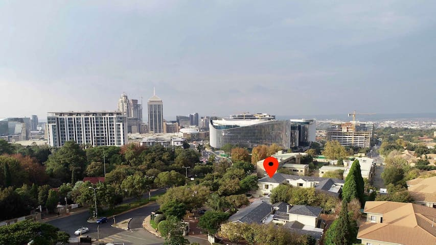 Our apartment is located in the heart of Sandton's financial, business & tourism district.