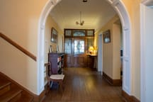 entrance hall. your room is second on the right
