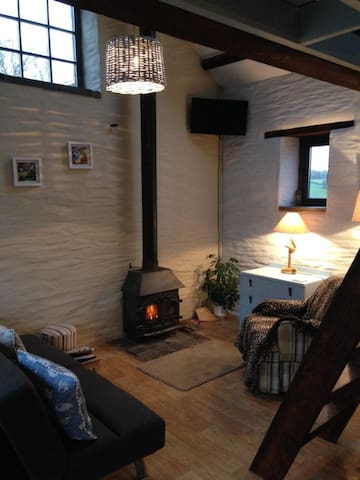 Cosy woodburner for relaxing