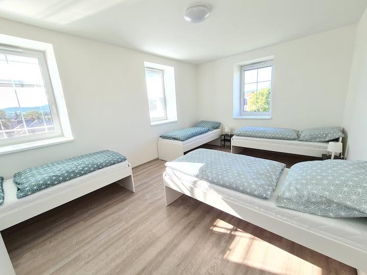 Nové moderní ubytování v Bludově