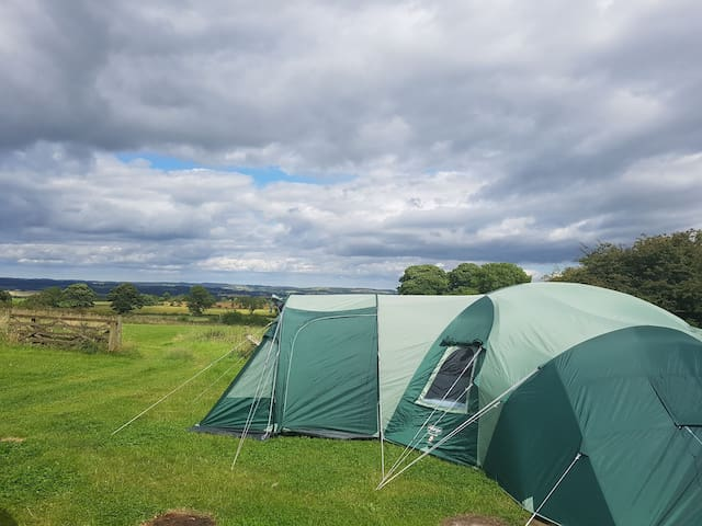 Huge 3 bed tent with living area on Hadrian's Wall