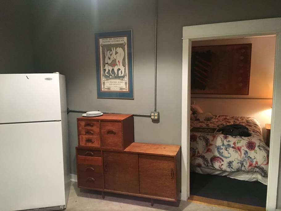 kitchen adjacent to bedroom #1