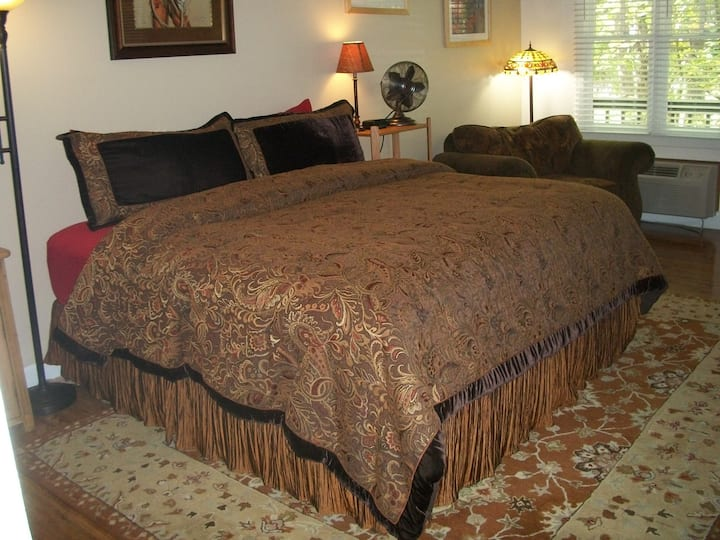 Bella Paradiso #4 - Two Room King Suite with Kitchenette, Downtown, Free Parking, WiFi, 2 Room Unit