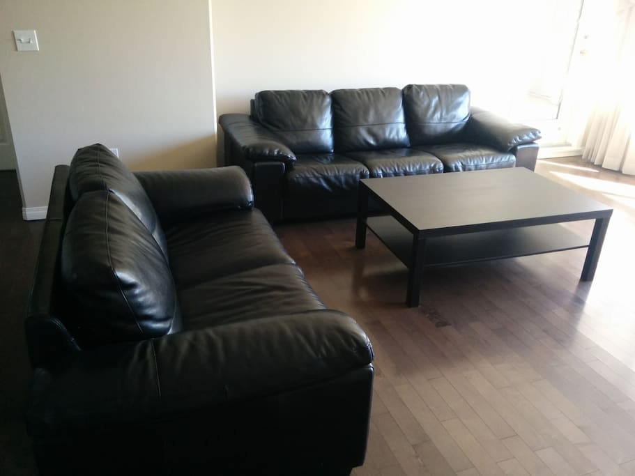 Living Room with Huge Sofa for One Guest