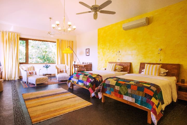 Sunflower Suite, cheerful combination of sunny yellow and white