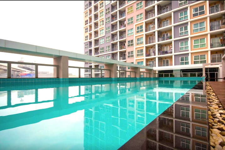 Fully furnish room 30SQM + WIFI&WASHER, 15 floor! - Bang Sue - Apartamento