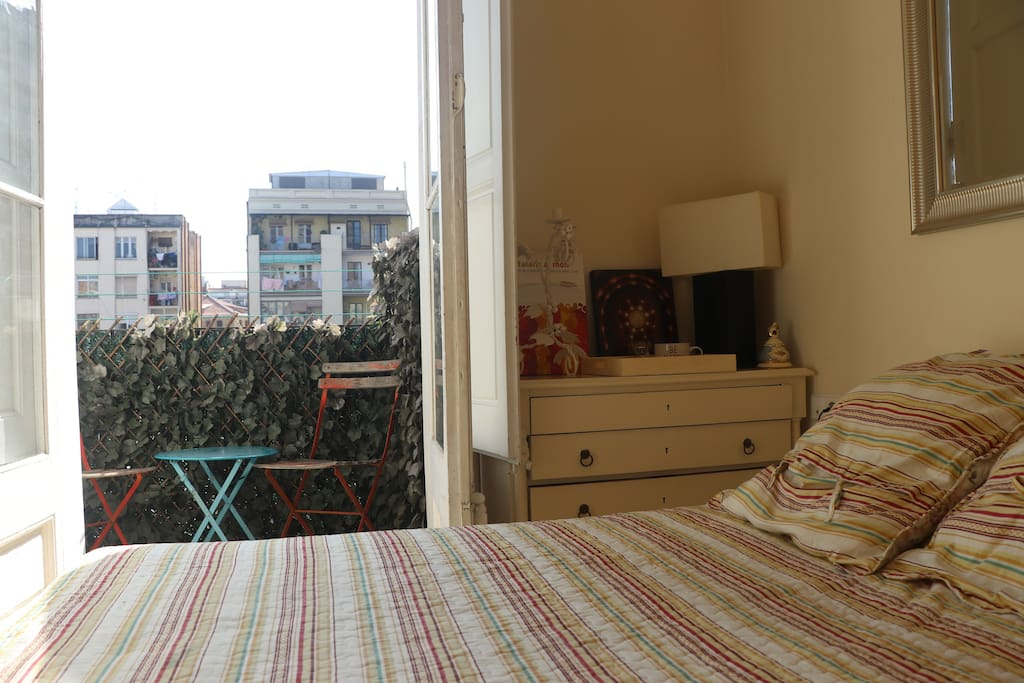 Your Pretty and quite Bedroom with terrace to have your breakfast if you desire.