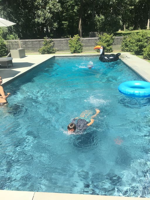 Heated Pool Keeps The Fun Going!