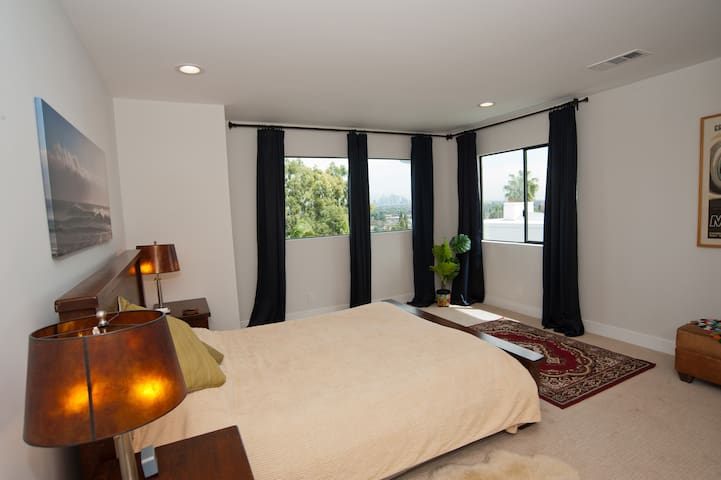Your large private mini master bedroom with private en suite bathroom.