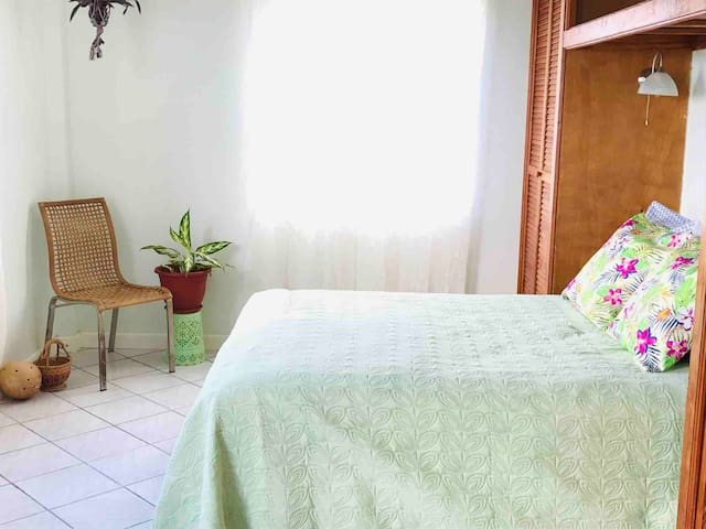 Jack n Jill suite bedroom two. The Botanical Room