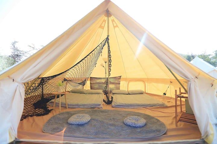 轻奢森系露营,逅海主题帐篷-鲸屋