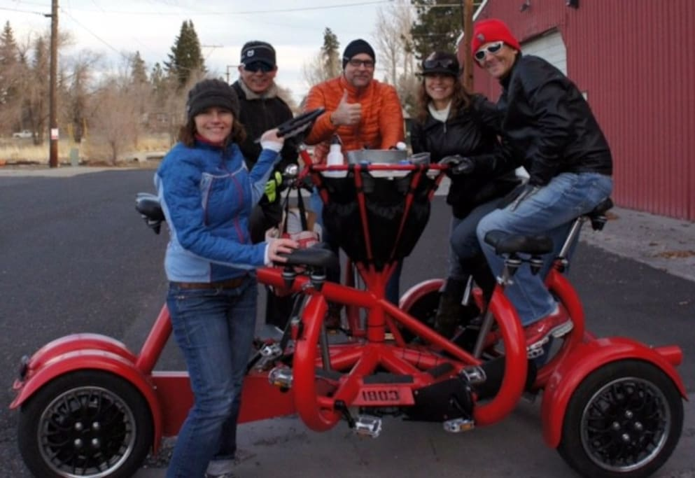 Guests love Bend's Cycle Pub.