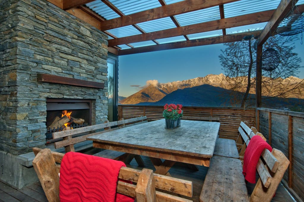 Summer or winter the outdoor space is a fantastic entertaining feature