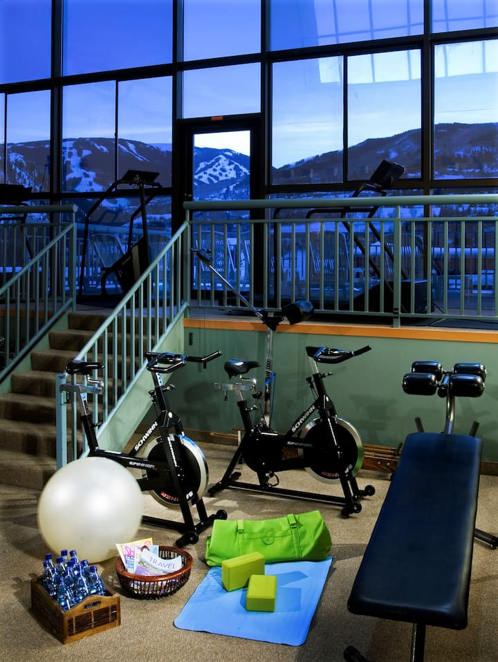 Condo with Balcony + Fireplace Right Across from the Gondola! Free Shuttle, Housekeeping, + Gym Access