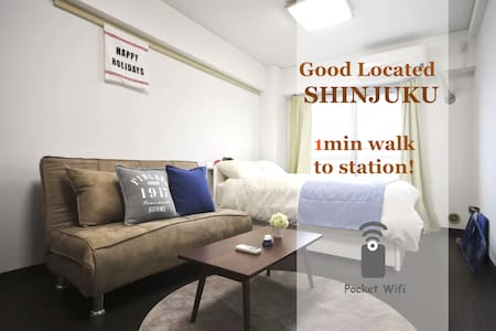 cozy apt, 2 min to Shinjuku #ZK2 - Apartemen