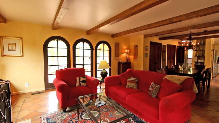 French Doors off the Living Room to Vineyard View Terrace