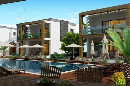 Havuzlu güvenlikli bir site de 2+1 - 博德魯姆 - 公寓