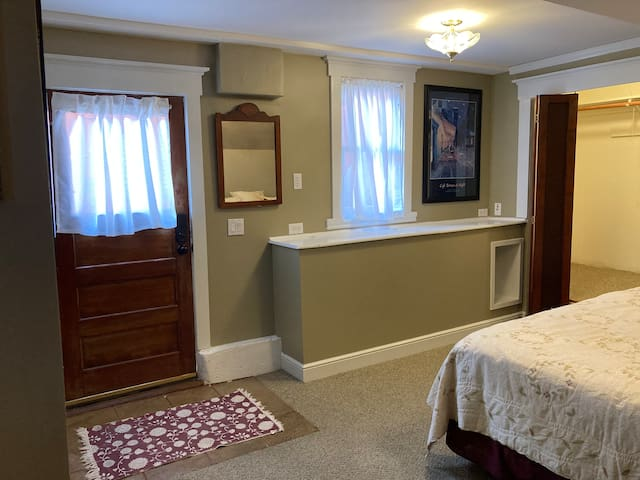 Bedroom with King and main entrance to in-law suite