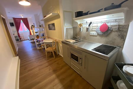 geräumige Suite, zentrale Lage, Kochen, Atmosphäre