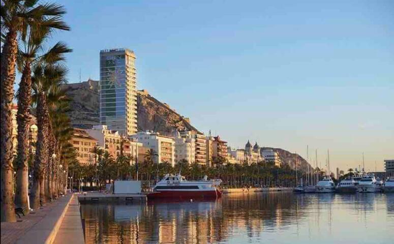 Alicante, centro, playa, nuevo, WiFi, aire, 1a