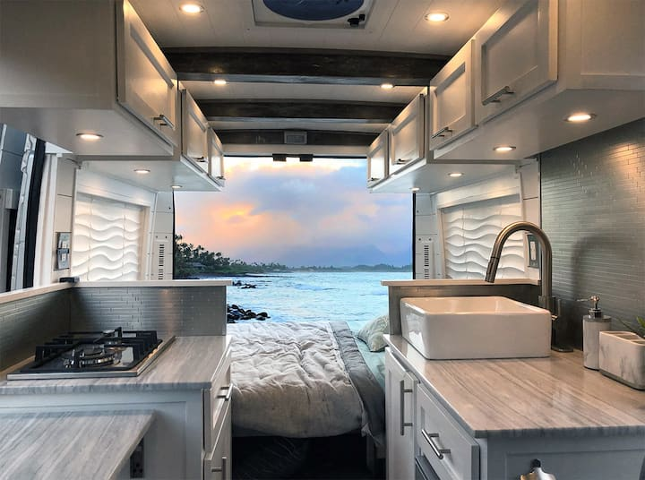 Modern Luxury! Custom Camper Van Conversion
