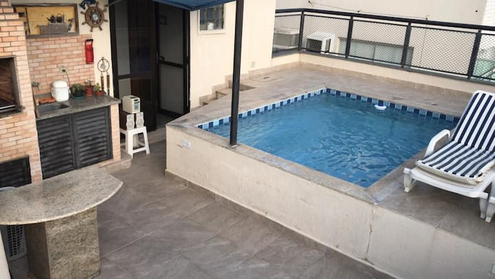 Cobertura triplex delícia piscina excl. & churras!