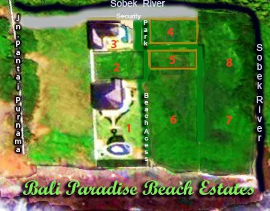 Estate number three is 50 mtr. from a beautiful beach with a private beach entrance.