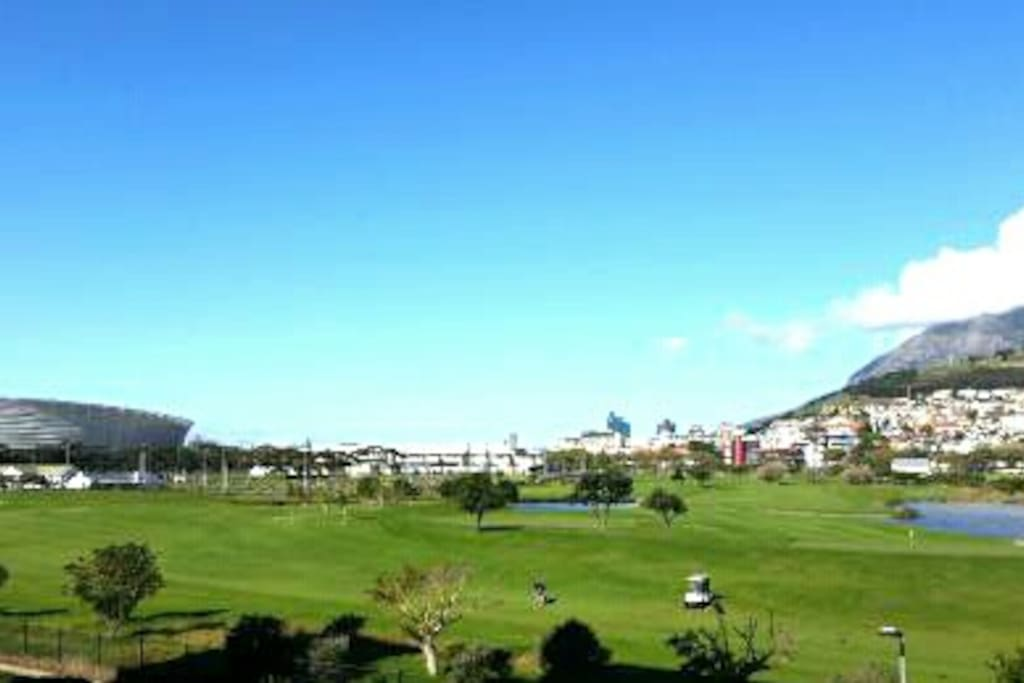 Metropolitan golf course behind apartment