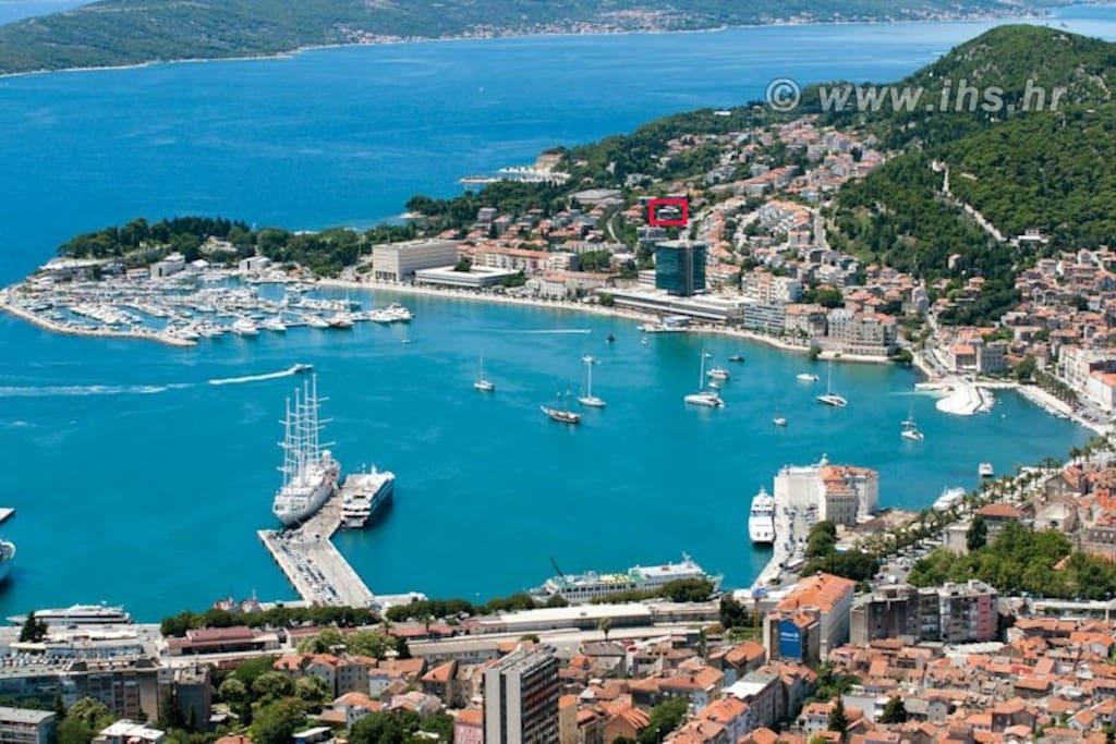 Airview, Split harbor
