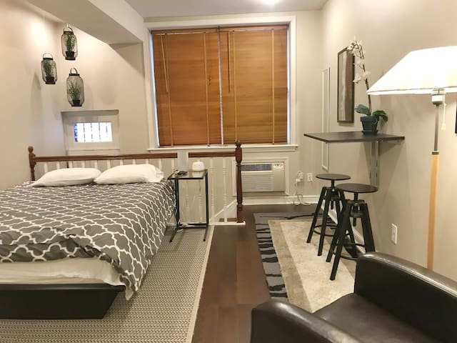 Comfy Studio Steps from Where You Want to Be