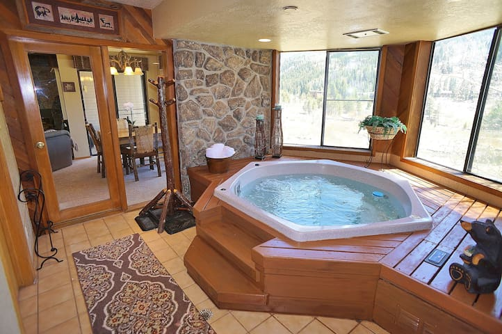 ⭐Mtn Escape⭐INDOOR HOT TUB & FIREPLACE-Wow Views