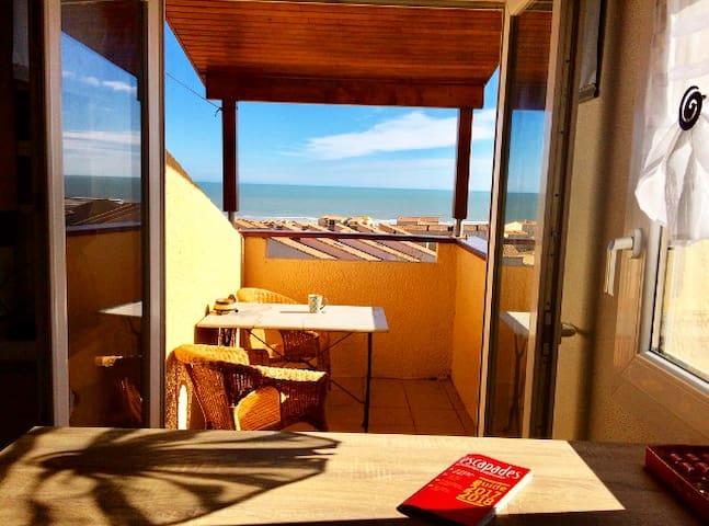 Appt T2 Cosy, vue panoramique mer, 800m plage