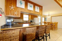 Eat in kitchen with bar seating