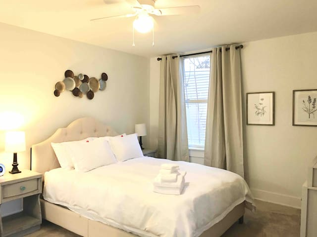 Spacious Suite&Balcony in Upscale Downtown home