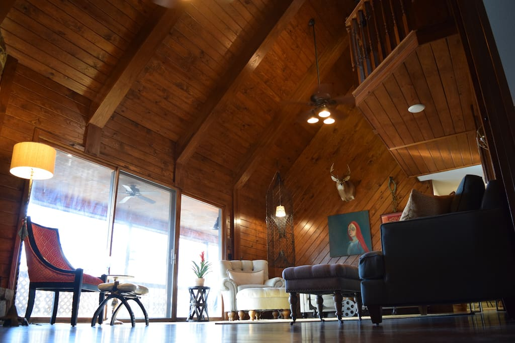 beautiful wooden ceilings with natural light from the West