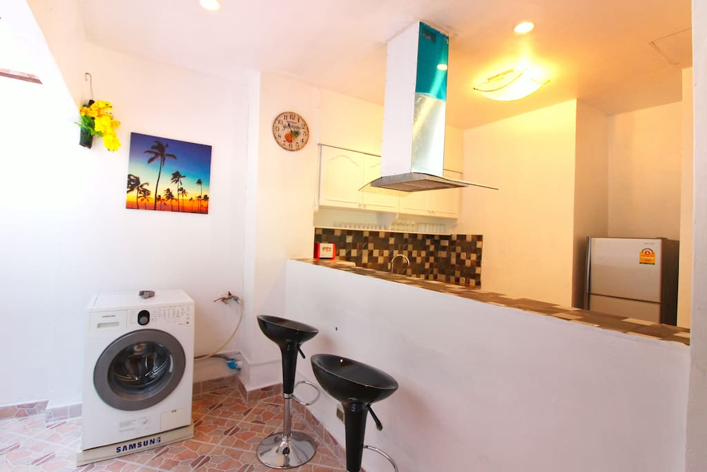 Washer and Lounge area