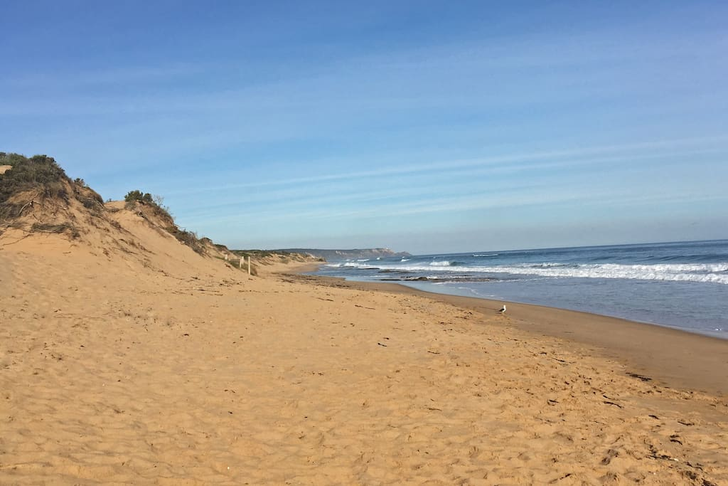 Beautiful sandy beach only 250 meters from the house