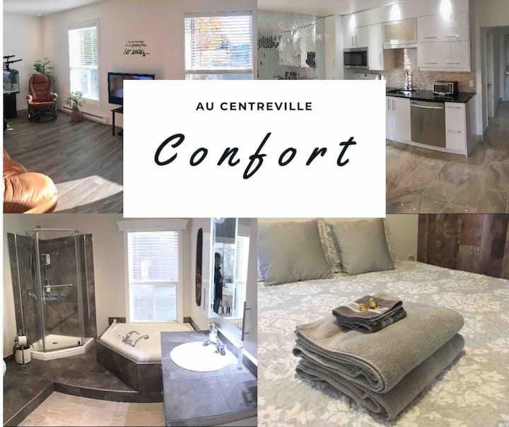 Le confort Situé au centre-ville