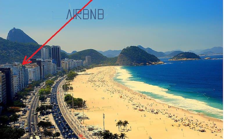 QUARTO,COPACABANA, WI-FI, AR, 1 QUADRA PRAIA/METRO - Rio de Janeiro - Slaapzaal